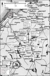 Map 17 Napoleon's Pursuit, February 5-6, 1807