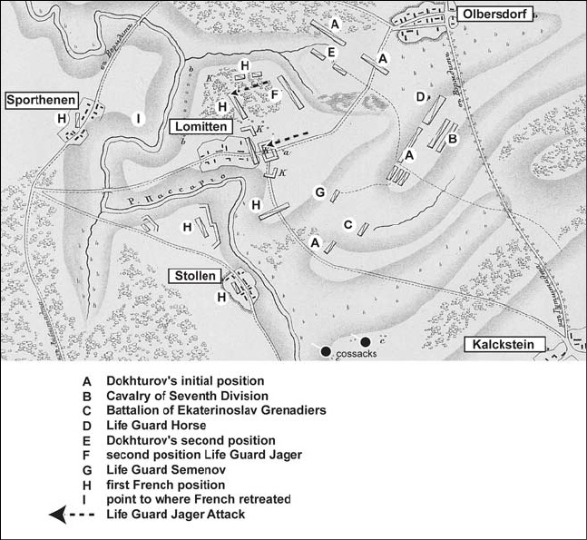 Napoleon's Triumph: The Friedland Campaign 1807: Sample map